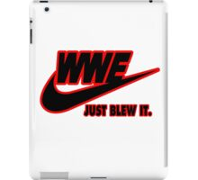 WWE Just Blew It. (Red Outline, Black Inside) iPad Case/Skin