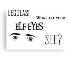 Elf Eyes Canvas Print