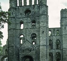 Facade of Kelso Abbey Northumbria England 198405300005  by Fred Mitchell