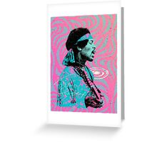 Jimi Hendrix - Psychedelic Sixties by Pepe Psyche Greeting Card