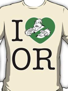 I PNW:GB OR (white) Green Heart v2 T-Shirt