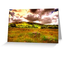 The hills of Donegal  Greeting Card