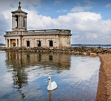 Normanton Church at Rutland Water by Ralph Goldsmith