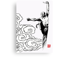 Shaolin kung fu cloud design Canvas Print