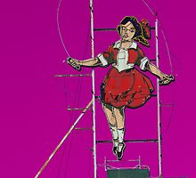 skipping girl in purple by Neil Mouat