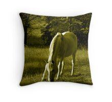Equinus Gold Throw Pillow