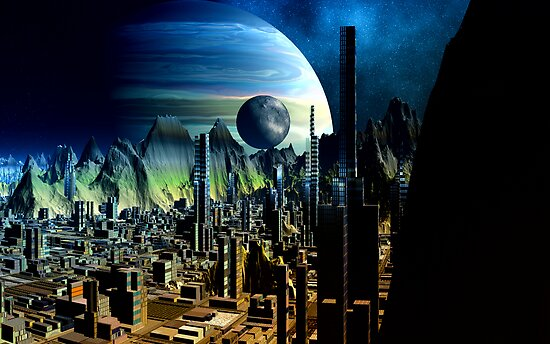 Cities of the Fourth Millennium - Iron City  by AlienVisitor