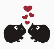 Hamster love red hearts Kids Clothes