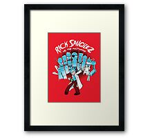 Rick Vs the Multiverse shirt Framed Print
