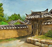 Korean Gate by Jeff Powers Illustration