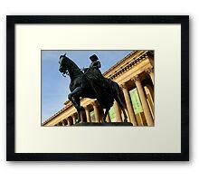 Queen Victoria on horseback Framed Print