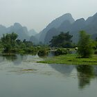 River and mountains - China by chrisfx
