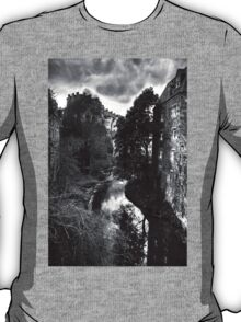The Water of Leith at Dean Village B&W T-Shirt