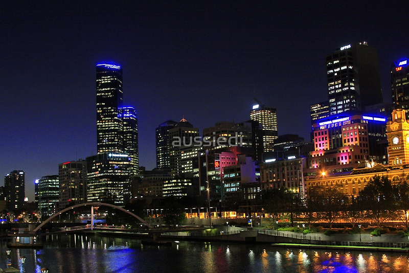 Melbourne Skyline after Dark#2 by aussiedi