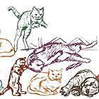 pratt cats by purplestgirl