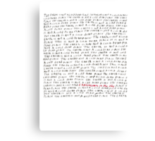 Explosions in the Sky - The Earth is Not a Cold Dead Place Canvas Print