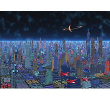 Night Patrol - Titan City Photographic Print