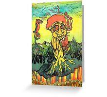 Trippy Mushroom Greeting Card