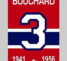 "Emile ""Butch"" Bouchard - retired jersey #3 by ianscott76"