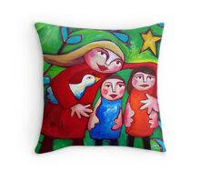 GOING  HOME  FOR  CHRISTMAS Throw Pillow