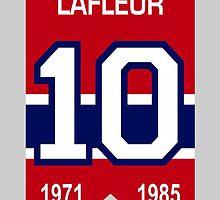 Guy Lafleur - retired jersey #10 by ianscott76