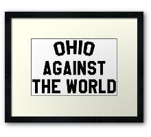 Ohio against the world - b&w Framed Print