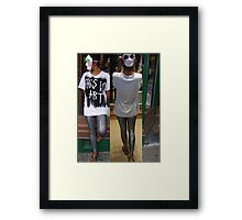 This is Art (the shirt) prototype, pic 3. Framed Print