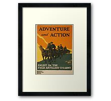 Adventure and Action (Reproduction) Framed Print