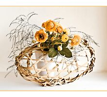 Ikebana-039 Greeting Card by Baiko