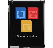 Pokemon Gameboy - Choose Wisely  iPad Case/Skin