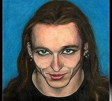 Eyeliner and That Smile by earthskyart