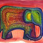 Indian Elephant by earthskyart