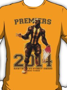 'The Mighty Premiers From Hawthorn' 2014 Print By Grange Wallis T-Shirt