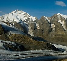 Piz Bernina and Piz Moteratsch by peterwey