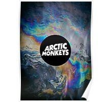 Arctic Monkeys Logo Oil Slick Poster