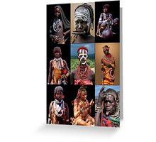 AFRICAN TRIBAL LADIES Greeting Card