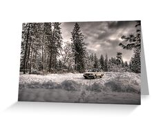 Volvo in the Snowstorm Greeting Card