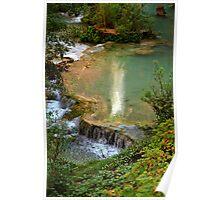 Moony Falls Reflection Poster