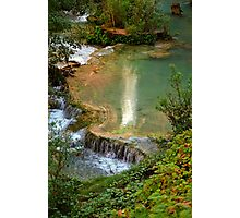 Moony Falls Reflection Photographic Print