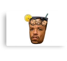 Just Some Ice Tea and Ice Cubes Canvas Print