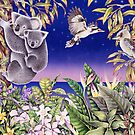 Australian Koalas and Kookaburras by joeyartist