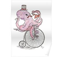 Octopus Hipster Poster