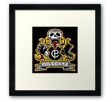 Polecats Patch Distressed Framed Print