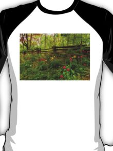 Dreamy Forest With Tulips - Impressions Of Spring T-Shirt
