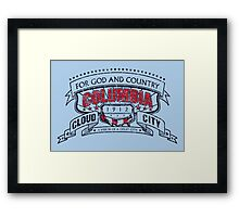 Columbia City Distressed Framed Print