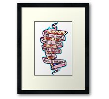 Pizza is Knowledge CutOut Framed Print