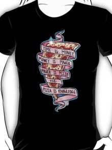 Pizza is Knowledge CutOut T-Shirt