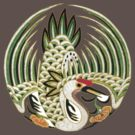 Asian Art Crane by Zehda