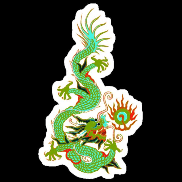 Asian Art Chinese Dragon by Zehda