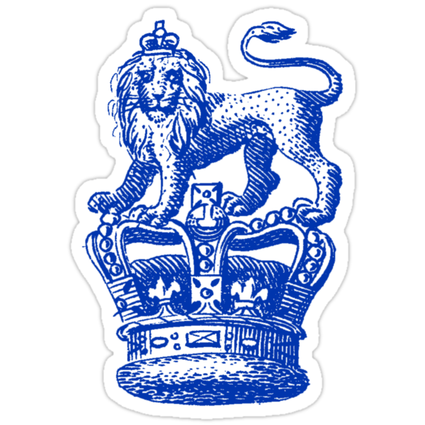 Blue lion logo with crown - photo#5